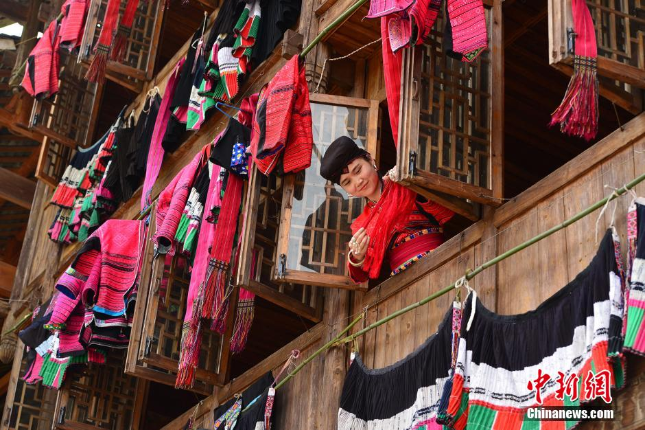 1479ad964 People of the Yao ethnic group dry clothes in the sun in Longji Township of  Guilin, south China's Guangxi Zhuang Autonomous Region, on July 21, 2015.