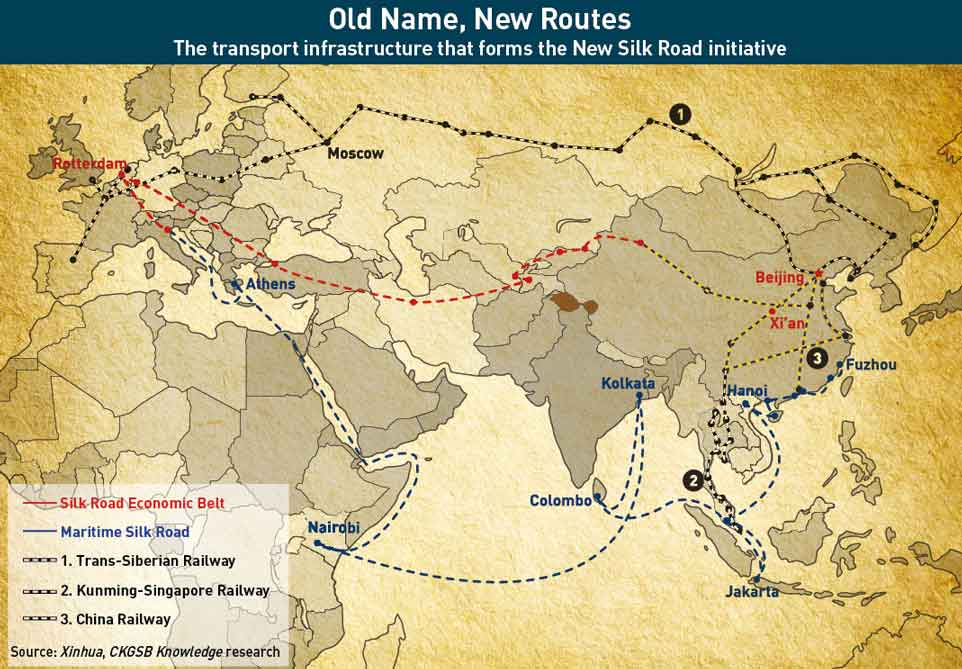 The-New-Silk-Road-Route